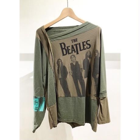 OLDPARK  / Patch work L/S TEE #Rock(BEATLES) / size:M