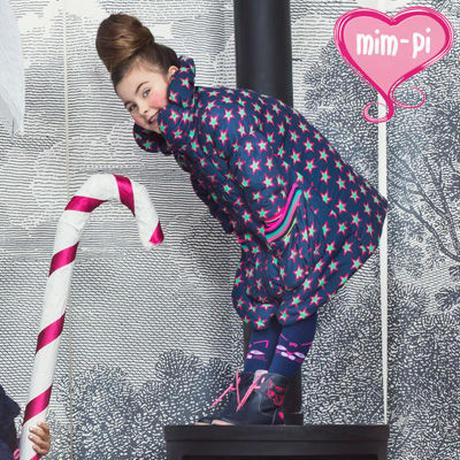 Mim-Pi(ミンピ)★スタープリントのダウンジャケット風モード系コート swan jacket
