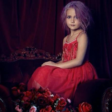Tutu du monde★赤にビジューと花びらが沢山のチュチュドレス/インポート子供服