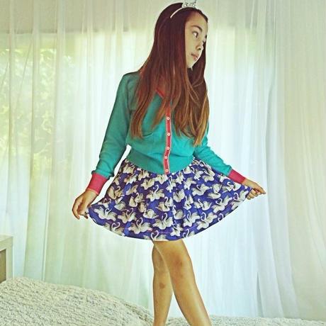 Mim-Pi(ミンピ)スワン柄スカート Swan print skirt