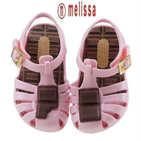 ☆正規輸入☆ミニメリッサ☆mini melissa☆板チョコが可愛いラバーサンダルベビー用(ピンク)Chocolate
