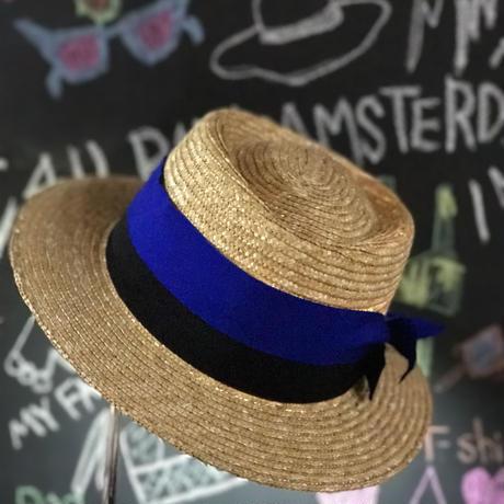 Cankan Hat  W Ribbons 【カンカン帽  ダブルリボン】