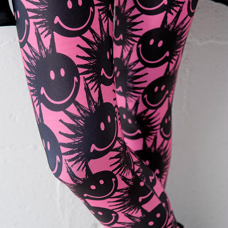 4U_PARISAMSTERDAM 【レギンス PUNK SMILE】Pink/Black