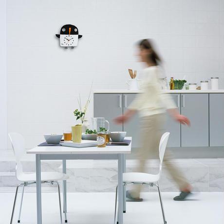 絵本作家 五味太郎 オリジナル時計・クロック 「ペンギン」