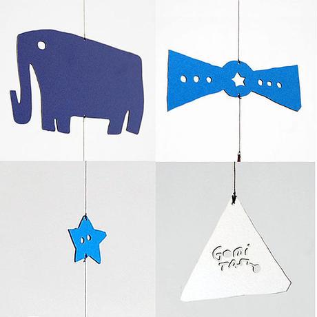 五味太郎デザイン モビール「STRINGLE / elephant(ぞう)」