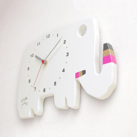 絵本作家・五味太郎 オリジナル時計 「ゾウ・白」