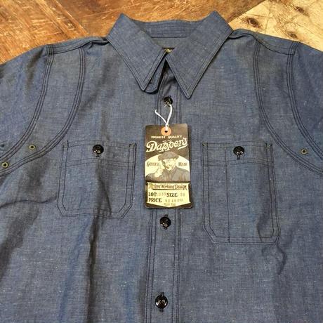 Dapper's ダッパーズ   Triple-Stitched Ventilation Work Shirts  LOT1339