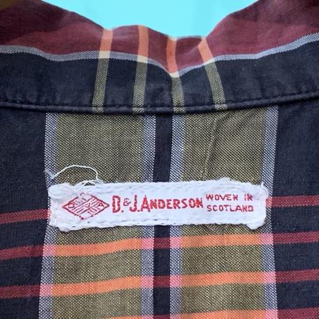 60s  D&J ANDERSON  オープンカラー ボックスシャツ!
