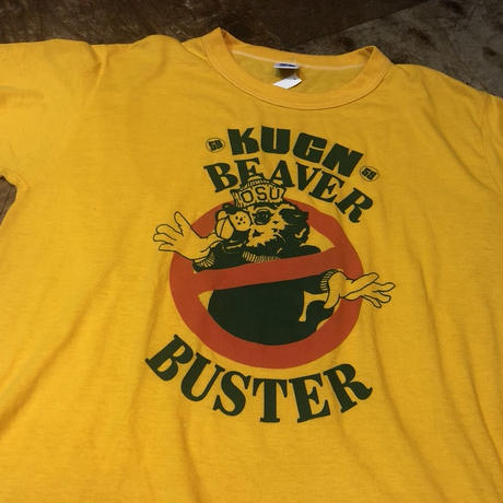 80s RUSSELL ATHLETIC アメリカ製 KUGN BEAVER オレゴンステート カレッジ Tシャツ!