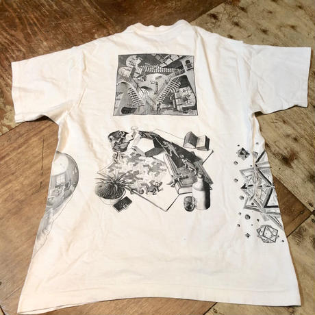 90s アメリカ製 エッシャー Excher  アート Tシャツ!