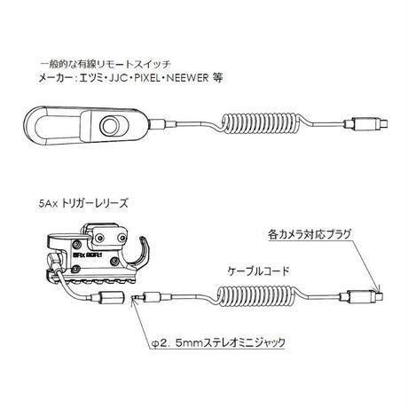 5Axリモートトリガー ケーブル図