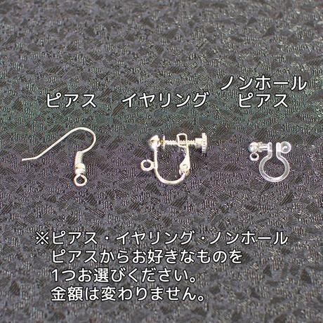 ボロノイ 立方体イヤリング【ピアスへの変更可能】