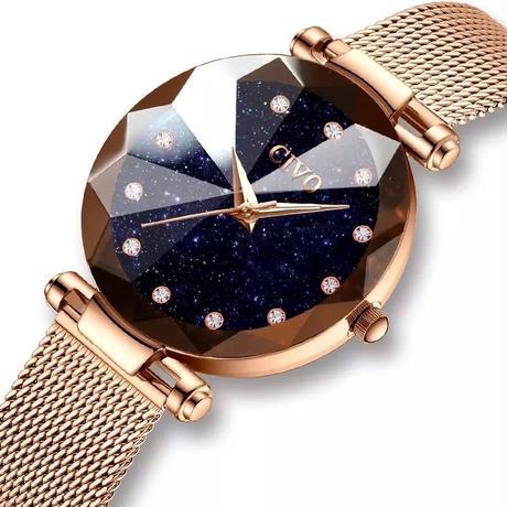 大人気商品 CIVO 腕時計 レディース ラグジュアリー メッシュストラップ ローズゴールド 33mm 星空 エレガント