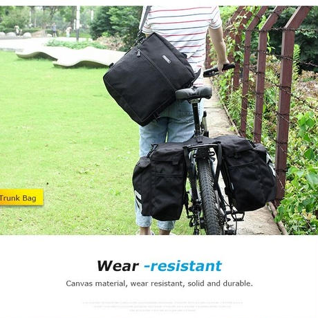 自転車バック 3イン1 マルチファンクション 大容量 パニアバッグ 取り外し簡単 多機能 サイクリング 旅バック サイドバッグ
