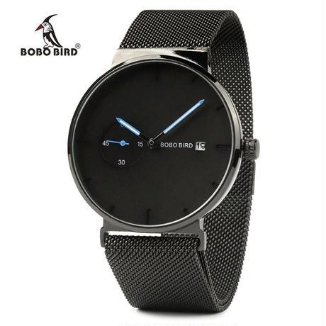 BOBO BIRD 腕時計 ビジネス カジュアル シンプル メンズ クォーツ シンプル スタイリッシュ
