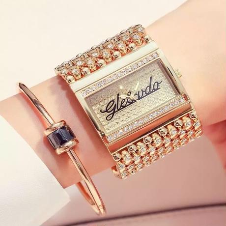 レディース腕時計 ブレスレット ゴールド シルバー ブレスレットウォッチ ラインストーン ゴージャス 人気