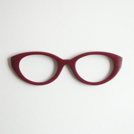 パープルハートの調整眼鏡 / Wood Fit Regulator 'Purple heart'