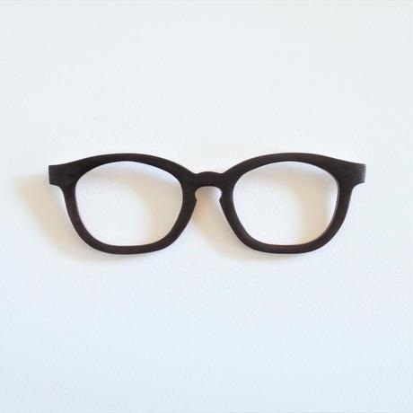 ソメイヨシノ黒弁柄染めの調整眼鏡 / Wood Fit Regulator 'Yoshino cherry tree dyed black BENGARA'