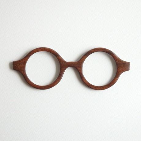 ブラックウォールナットの調整眼鏡 / Wood Fit Regulator 'Black Walnut'
