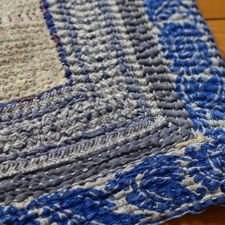 ヴィンテージラリーキルト  中厚手Mサイズ(ブルー&ホワイト)