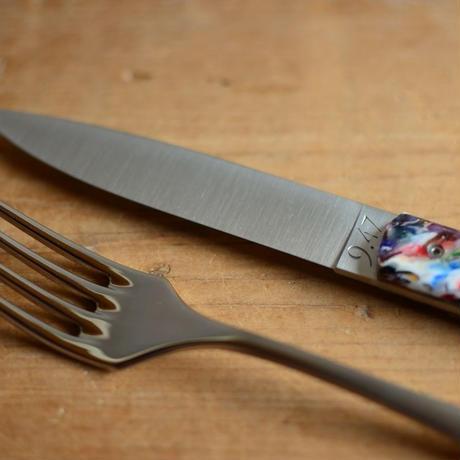 【限定品】Perceval  9.47paletteテーブルナイフ1本とテーブルフォーク1本のSET