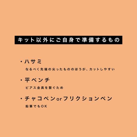 【刺繍枠付】刺繍ピアスが作れる!簡単オーガンジー刺繍キット(作り方レッスン動画付)