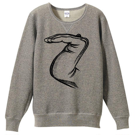 「乙」(sweat-shirt)ヘザーグレー