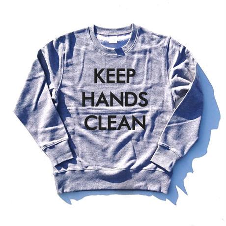 KEEP HANDS CLEAN (手を洗え)(sweat-shirt)