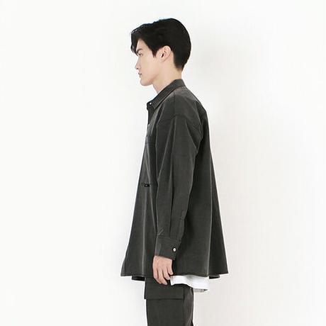 『 BY:L 』    ピグメントオーバーシャツジャケット (Charcoal)