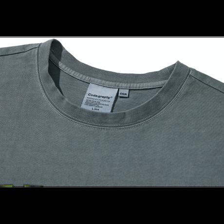 『Code:graphy』  ピグメントダイイングギャラクシーロゴ Tシャツ (Charcoal)