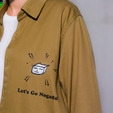 Swallowtale Double pocket refective taped Shirts (Beige)