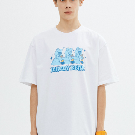 『grooverhyme』  TRIPLE DUMBY T-SHIRT (White)