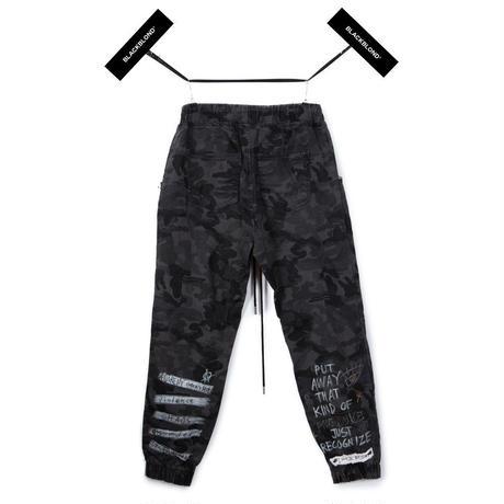Blackblond BBD Graffiti Camo Jogger Pants (Grey)