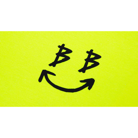 『BLACKBLOND』  リフレクションクラシックスマイルロゴロングスリーブ Tシャツ (Neon)