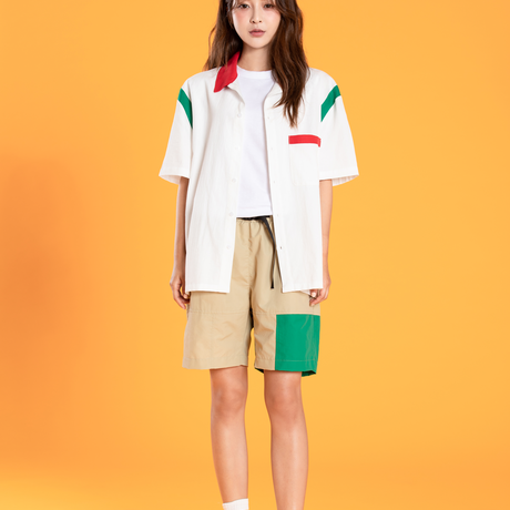 Motivestreet OVERFIT COLOR BLOCK SHIRTS