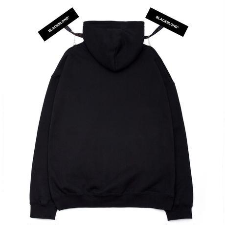 『BLACKBLOND』  カバードロゴパーカー (Black)