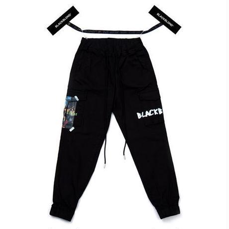 『BLACKBLOND』 イノセントカーゴジョガーパンツ (Black)