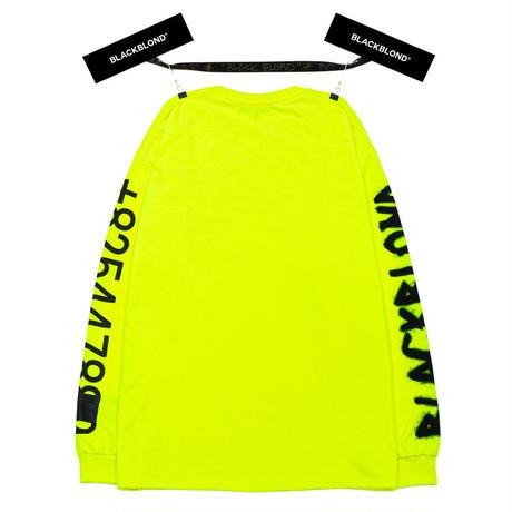 『BLACKBLOND』  グラフィティーナンバーロゴロングスリーブ Tシャツ (Neon)
