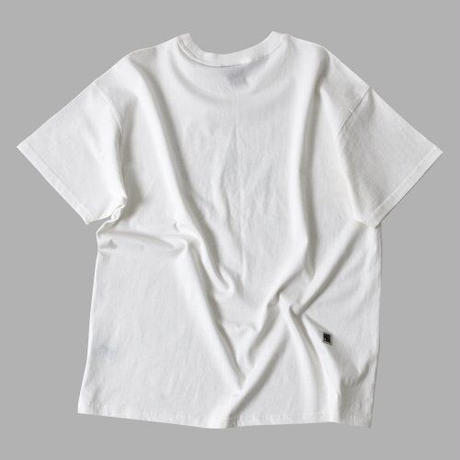 『FREAKISH BUILDING』 ランドリーデュードショートスリーブ Tシャツ (White)