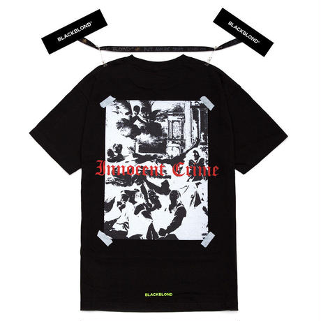 『BLACKBLOND』 イノセントシャドーショートスリーブ Tシャツ (Black)