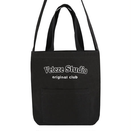 『VETEZE』  スタジオポケットエコバッグ (Black)