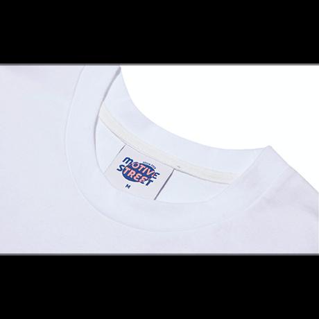 『Motivestreet』 プラーウエーブ半袖  Tシャツ (White)