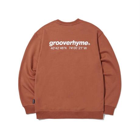 『grooverhyme』  NYC ロケーションスウェット (Brick)