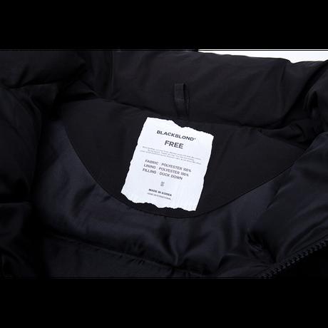 『BLACKBLOND』  レフレクションクラシックロゴショートダックダウンジャケット (Black)