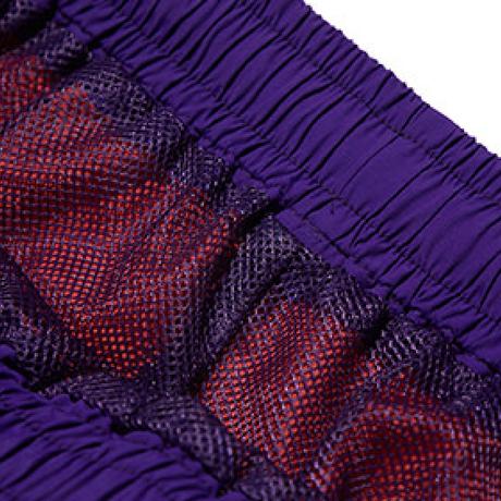 『Motivestreet』 カラーブロックバギーズショーツ (Purple)