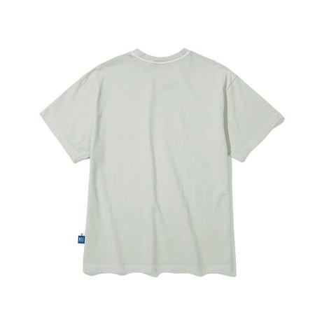 『Code:graphy』  ピグメントダイイングギャラクシーロゴ Tシャツ (Grey)