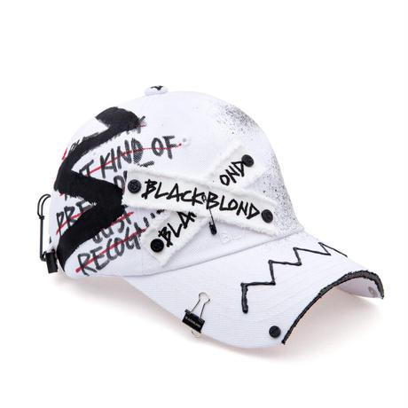 『BLACKBLOND』  オリジナルロゴキャップダーティーカスタムVER. (White)