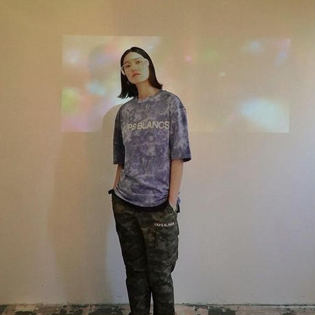 『LOUPS BLANCS』 ホログラムロゴ Tシャツ (Tiedie)