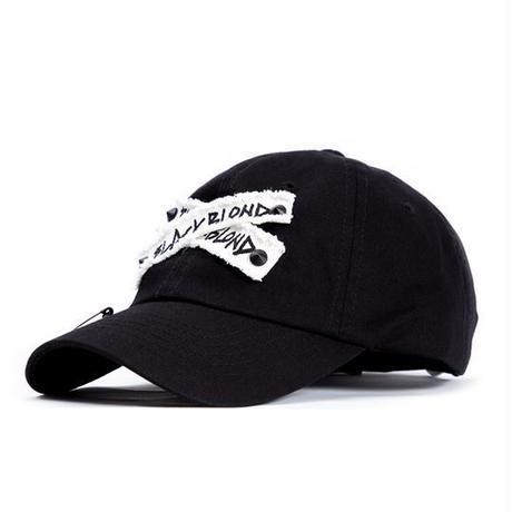 『BLACKBLOND』 Xパッチロゴキャップ (Black)