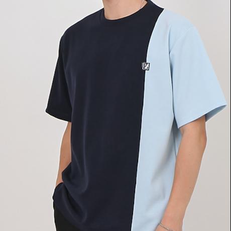 『 BY:L 』    カラー ブロックTシャツ (Navy)
